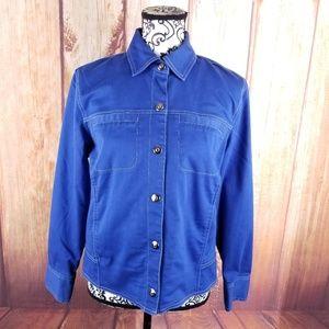 Koret Blue Lightweight Snap Button Jacket B112